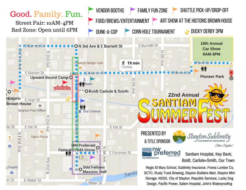 St Annual Santiam SummerFest - Summerfest grounds map